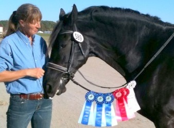 Jeanette van Mill and Z-Boy: ribbons!