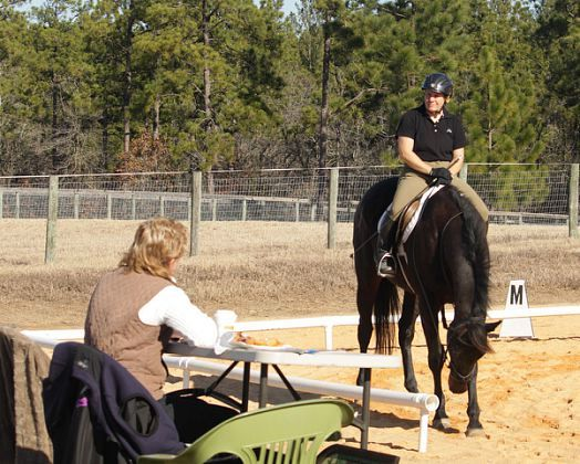 Dressage Fix-a-Test with judge Kris Hamilton at Dutchfield Farm NC